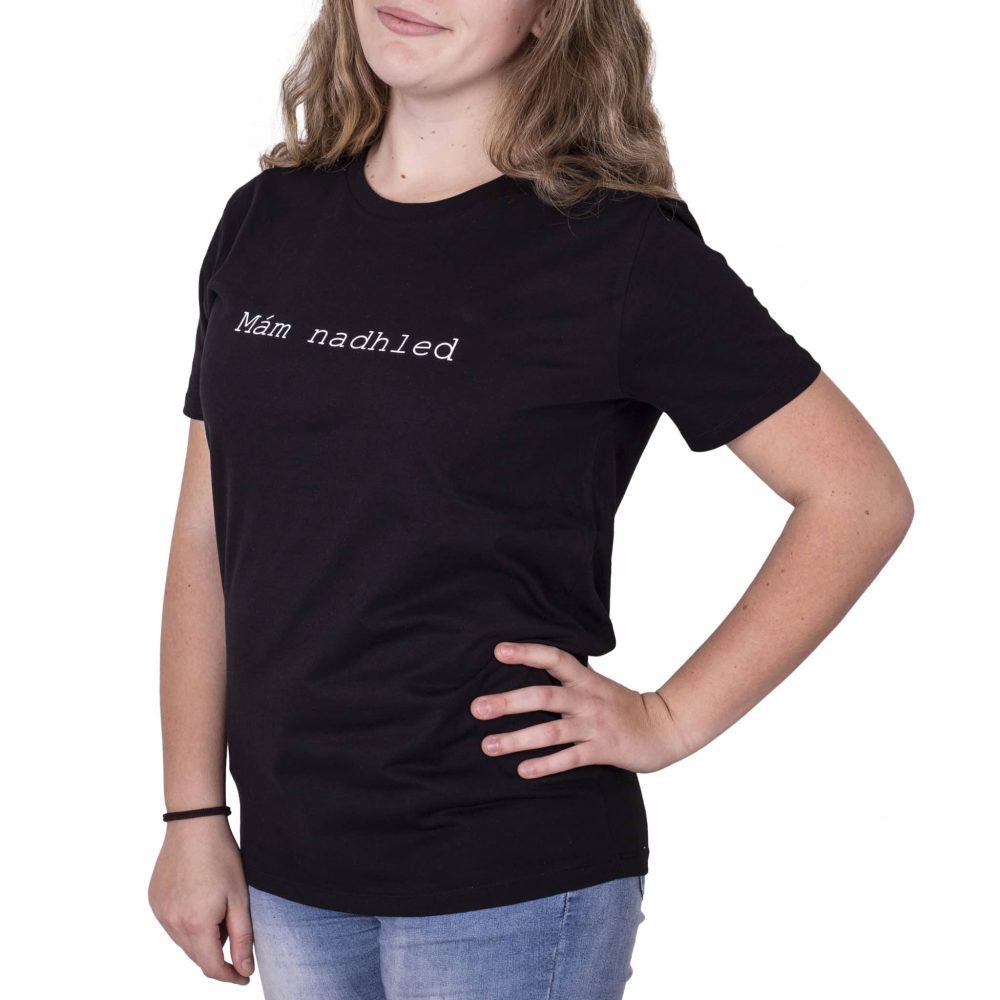 """˂img src=""""Inspirativní tričko mám nadhled.jpg""""alt=""""inspirativní tričko s nápisem mám nadhled""""˃"""